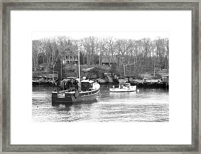 In The Harbor Framed Print by Becca Brann