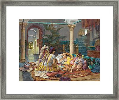 In The Harem Framed Print