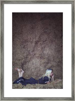 In The Hay Framed Print by Joana Kruse