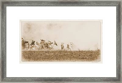 Framed Print featuring the photograph In The Heat Of Battle by Judi Quelland