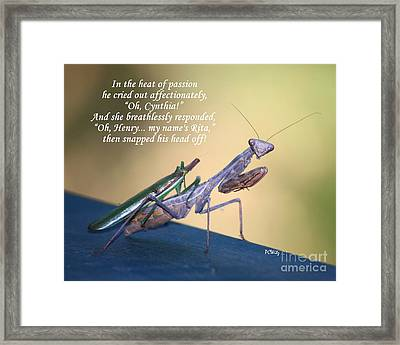 In The Heat Of Passion Framed Print