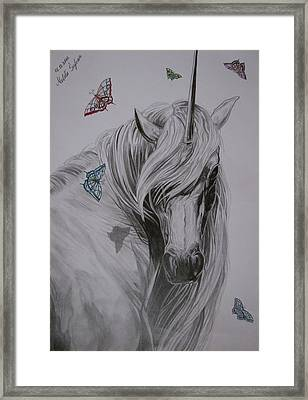 Framed Print featuring the drawing In The Heaven by Melita Safran