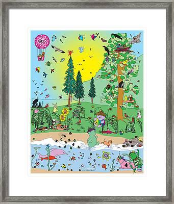 In The Hidden Tree Framed Print by Chris Morningforest