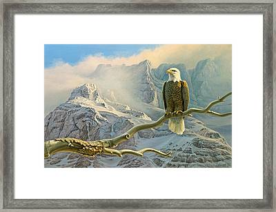 In The High Country-eagle Framed Print