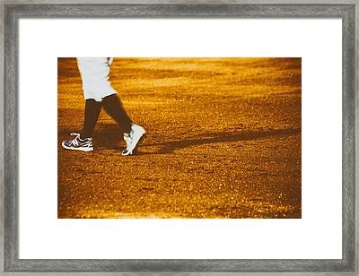 In The Infield Framed Print