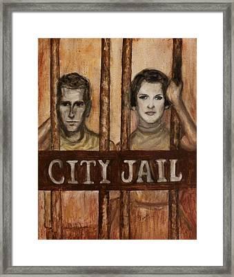 In The Jailhouse Now Framed Print by Regina Brandt