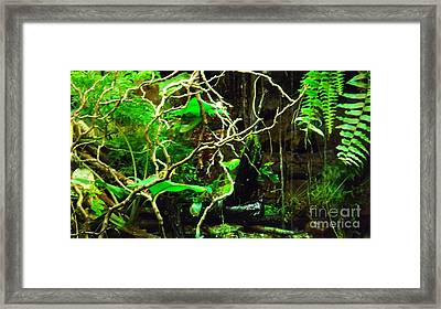 Framed Print featuring the photograph In The Jungle by Brigitte Emme