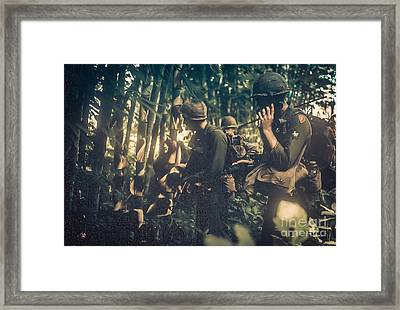 In The Jungle - Vietnam Framed Print by Edward Fielding