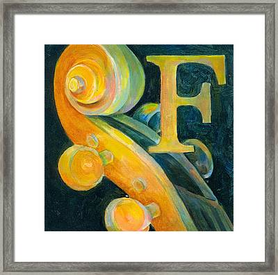 In The Key Of F Framed Print by Susanne Clark