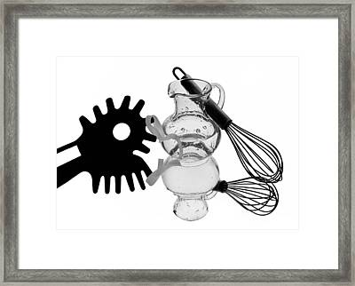 In The Kitchen 15 Framed Print by Manfred Lutzius