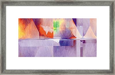Framed Print featuring the painting In The Land Of Forgetting 24 by The Art of Marsha Charlebois