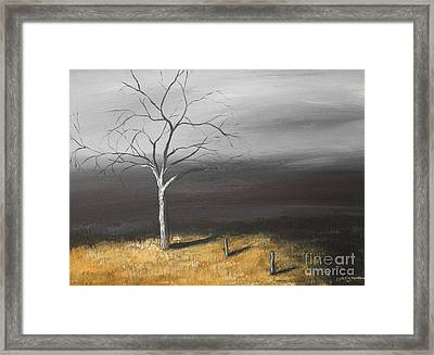 Framed Print featuring the painting In The Light by Christie Minalga