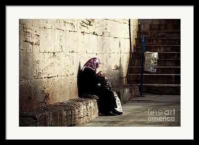 Hijab Design Art Framed Prints