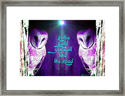 In The Light Framed Print by Sara Pixel Pixie