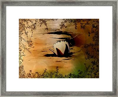 In The Lily Pond - Savannahwildliferefuge-featured In Nature Photography Framed Print by EricaMaxine  Price