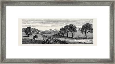In The Meath Hunting Country Holywood Rath House Ireland Framed Print