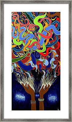 In The Midst - Abstract Painting  - Ai P. Nilson Framed Print