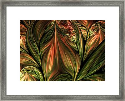 In The Midst Of Nature Abstract Framed Print by Georgiana Romanovna
