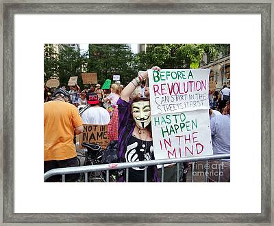 In The Mind Framed Print by Ed Weidman