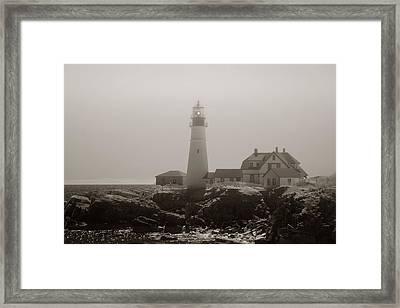 In The Mist Framed Print by Joann Vitali