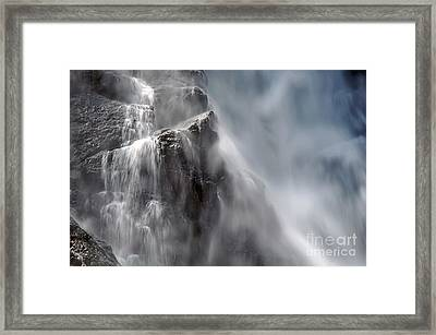 In The Mist Of The Falls Framed Print