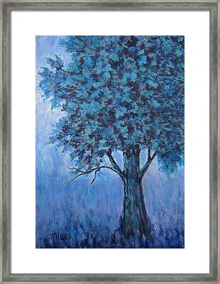 Framed Print featuring the painting In The Mist by Suzanne Theis