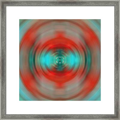 In The Moment - Energy Art By Sharon Cummings Framed Print by Sharon Cummings