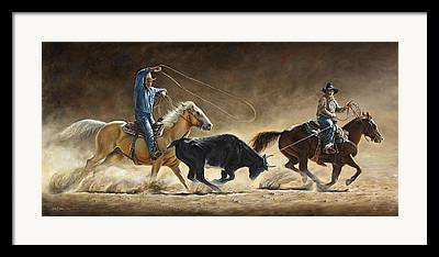 Western Life Framed Prints
