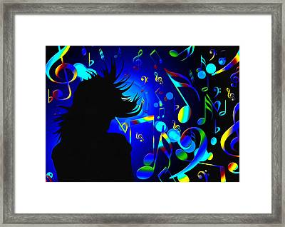 In The Mood Blue Framed Print by Georgiana Romanovna