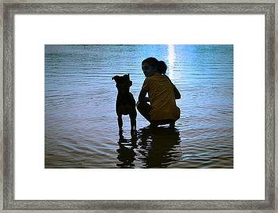 In The Moonlight Framed Print by Laura Fasulo
