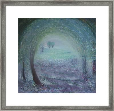 In The Morning Mist Framed Print