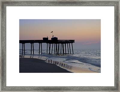 In The Morning On The Beach Ocean City Framed Print by Bill Cannon