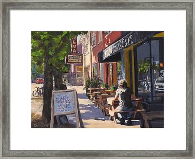 In The Morning Sun Framed Print