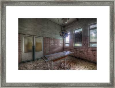 In The Mortuary.  Framed Print