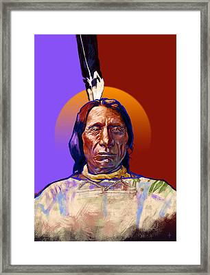 In The Name Of The Great Spirit Framed Print by Arie Van der Wijst