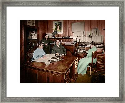 In The Office Framed Print by Ray Congrove