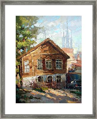 In The Old Courtyard Framed Print