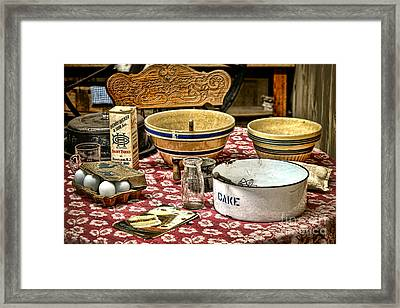 In The Old Kitchen Framed Print