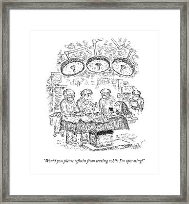 In The Operating Room Framed Print