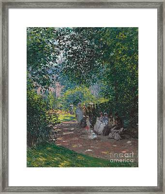 In The Park Monceau Framed Print by Cluade Monet