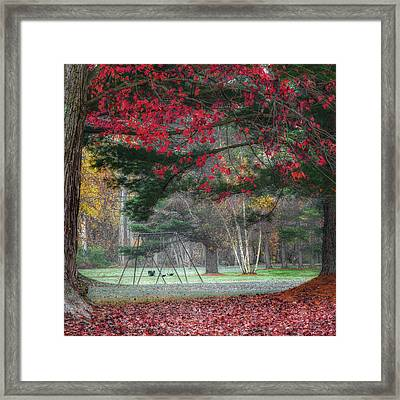 In The Park Square Framed Print by Bill Wakeley