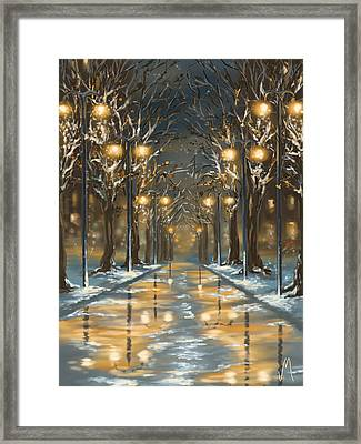 In The Park Framed Print by Veronica Minozzi