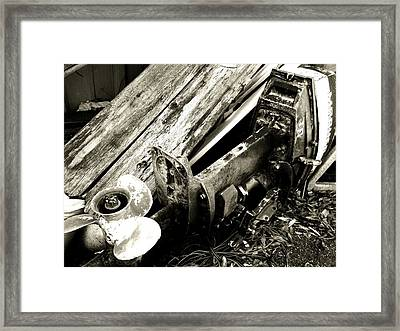 In The Past Framed Print
