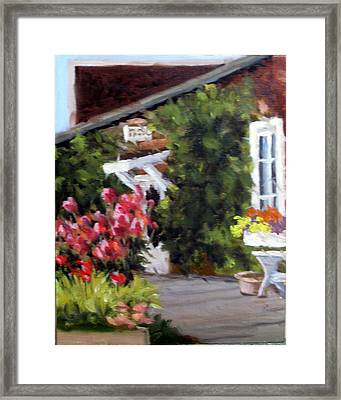In The Patio Framed Print by Char Wood