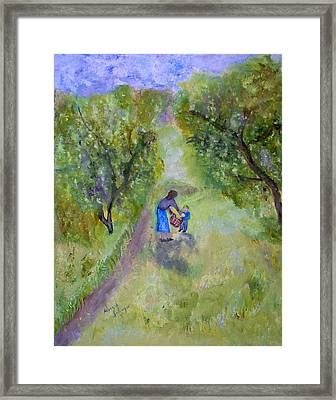 In The Pear Orchard Framed Print