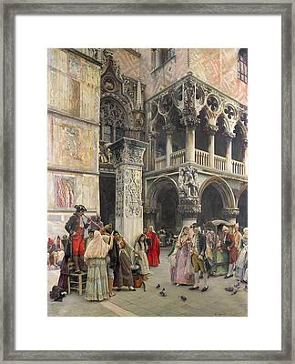 In The Piazzetta Framed Print by William Logsdail