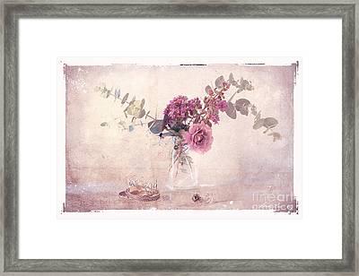 In The Pink Framed Print by Linda Lees