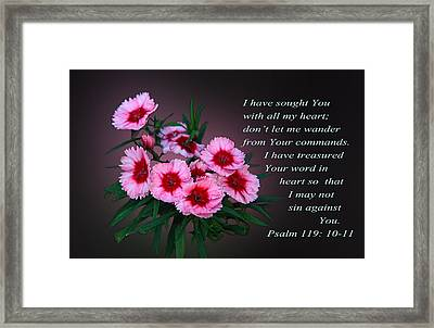 In The Pink With Pslams Framed Print by Linda Phelps