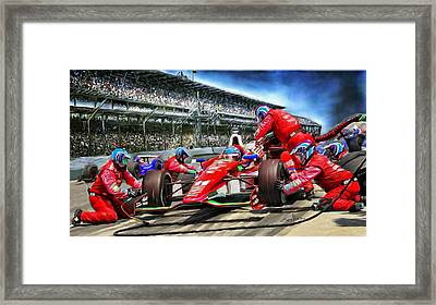 In The Pits  Framed Print