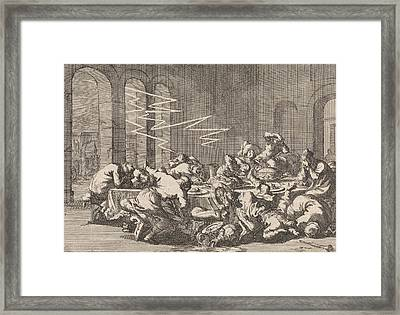 In The Polish Village Perzyn 23 People Are Killed Framed Print by Jan Luyken And Pieter Van Der Aa (i)